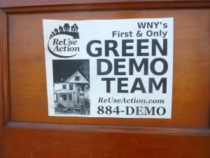 Green Demo Team On Door